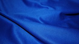 Blue moisture wicking textile
